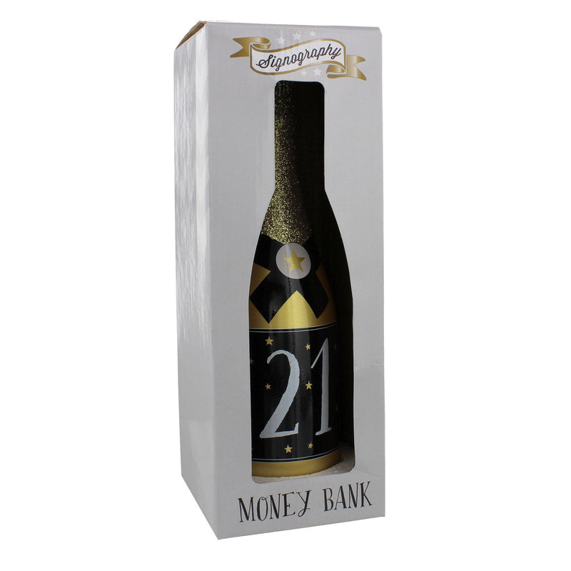 Signography Gold Champagne Money Box - 21