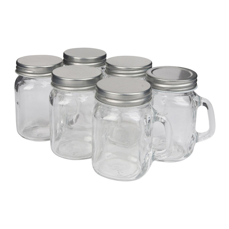 Set of 6 Vintage Mini Jars
