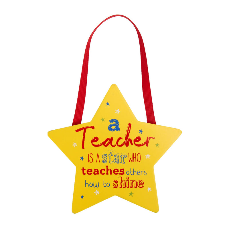 Star Shaped Plaque - A Teacher Is A Star