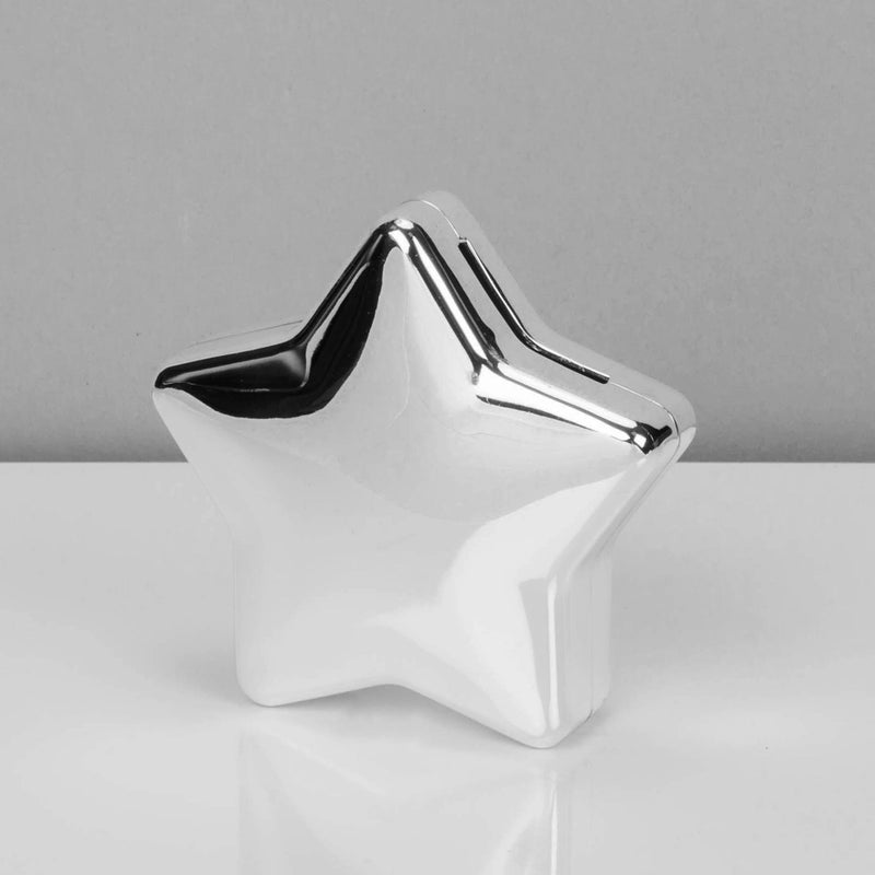 Bambino Silver-Plated Star Shaped Money Box - Engravable