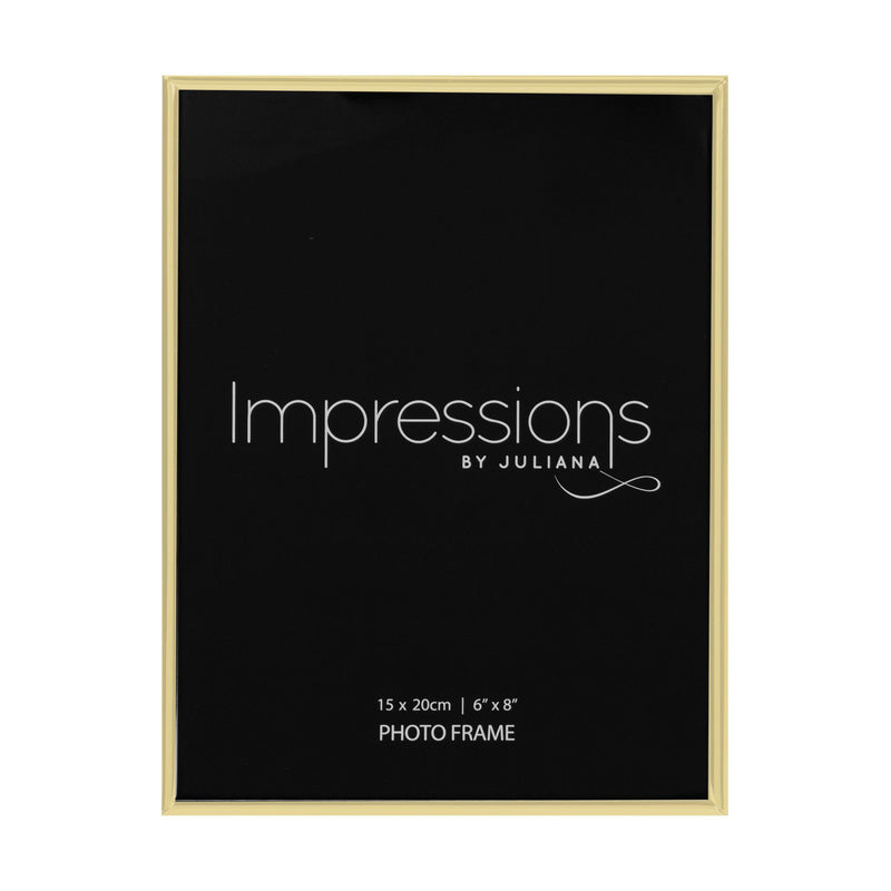 "6"" x 8"" - Impressions Brass Plated Thin Photo Frame"