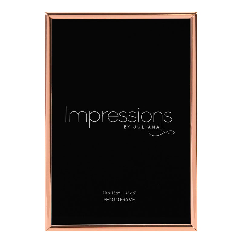 "4"" x 6"" - Copper Plated Thin Edged Photo Frame"