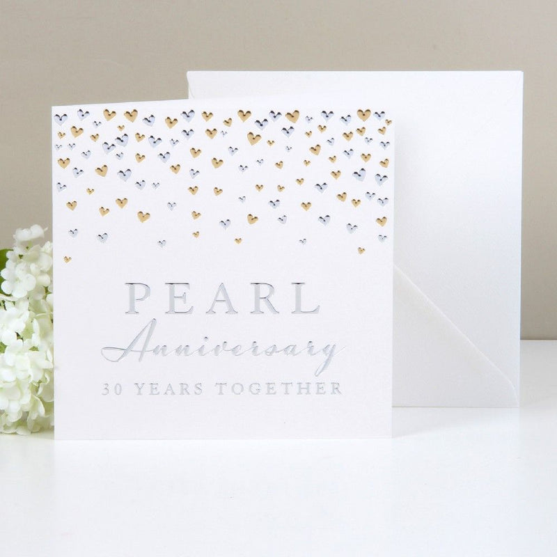 AMORE BY JULIANA® Deluxe Card - Pearl Anniversary
