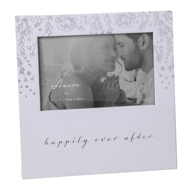 "6"" x 4"" - AMORE BY JULIANA® Photo Frame - Happily Ever After"