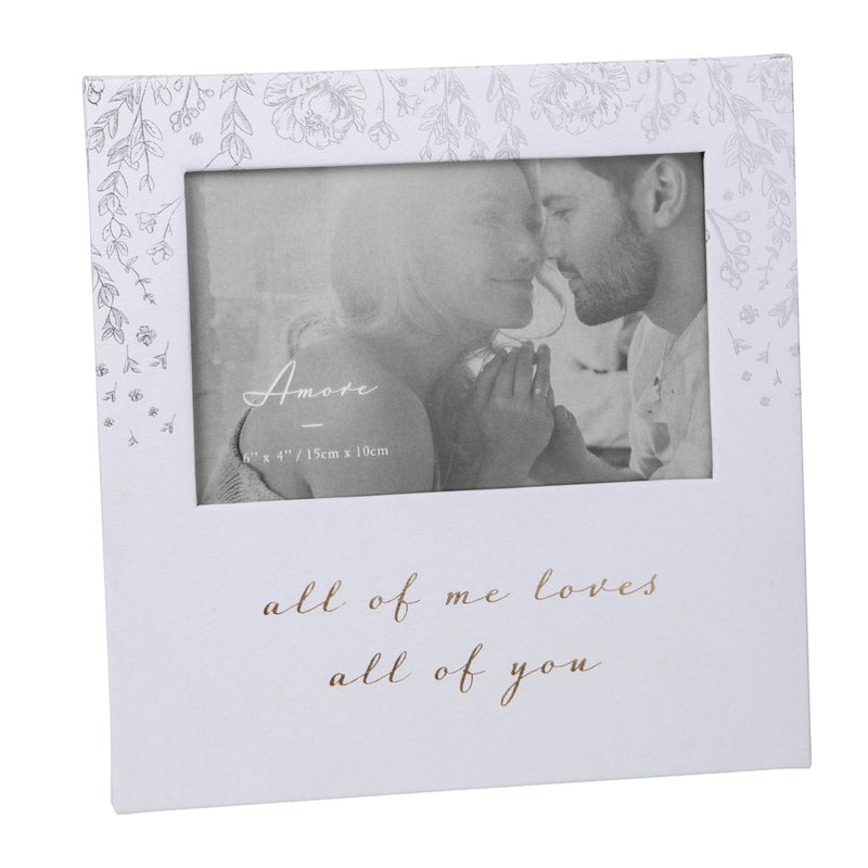 "6"" x 4"" - AMORE BY JULIANA® Photo Frame - Loves All Of You"