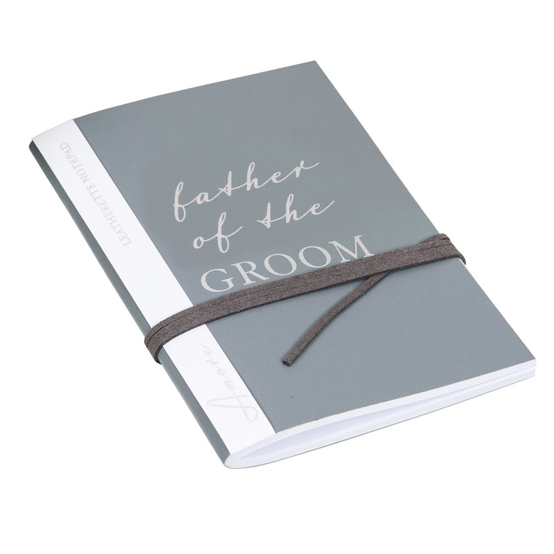 AMORE BY JULIANA® Leatherette Father of The Groom A6 Notepad