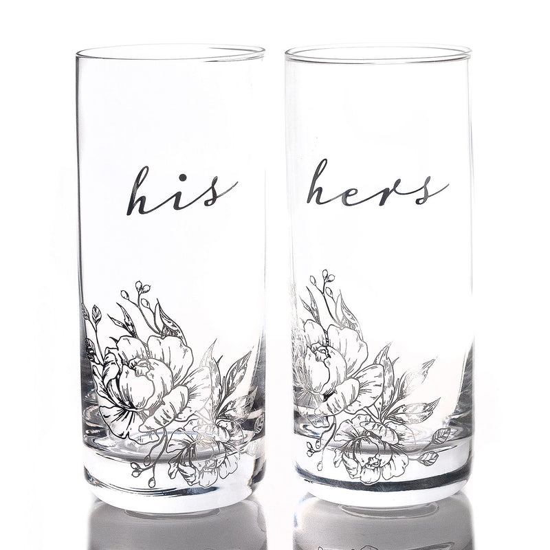 AMORE BY JULIANA® Luxury Highball Glass Set - His & Hers