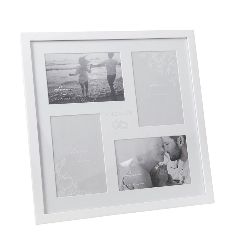 AMORE BY JULIANA® Multi Aperture Photo Frame - Engaged