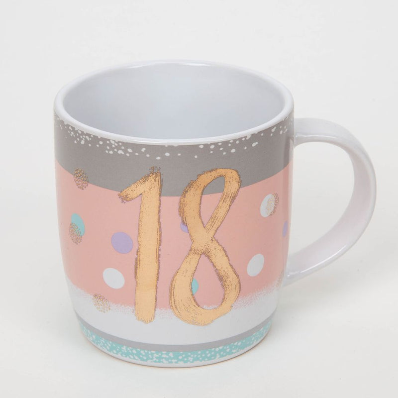 Bellini Stoneware Mug with Rose Gold Foil - 18