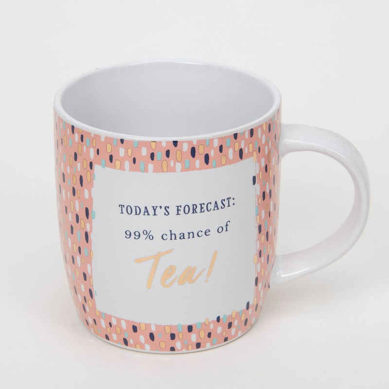 Bellini Stoneware Mug - 99% Chance Of Tea