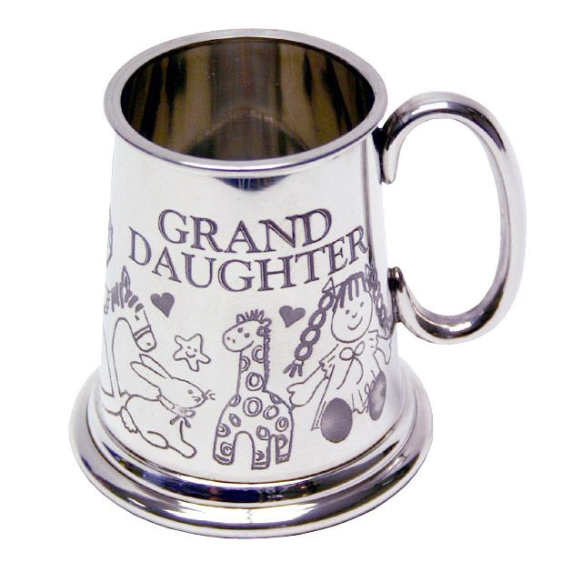 Pewter Granddaughter Mug