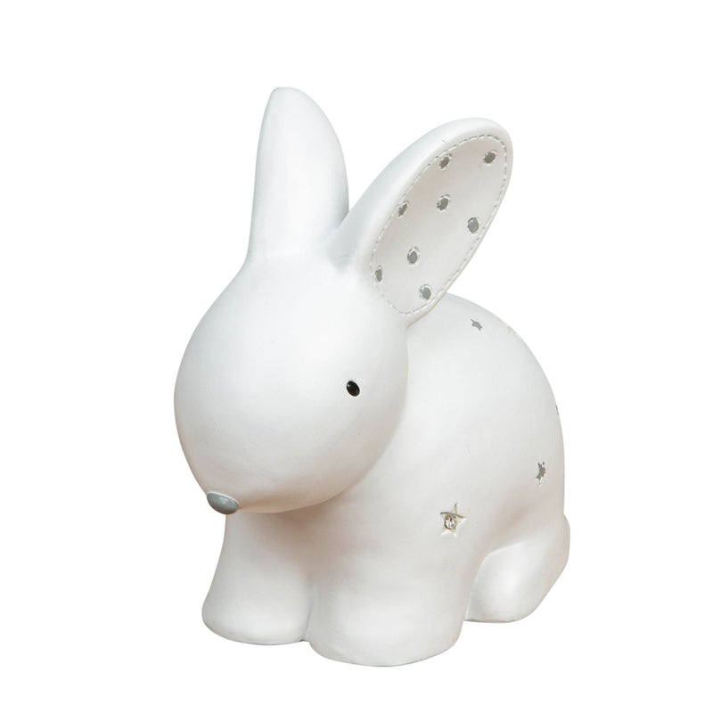 Bambino White Resin Money Box - Rabbit