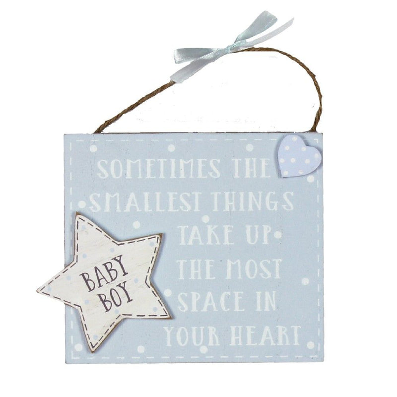 Petit Cheri Baby Boy Hanging Plaque