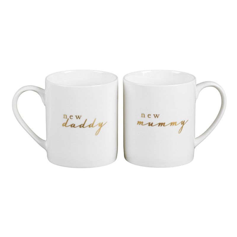 Bambino New Bone China Mug Pair - New Mummy & Daddy