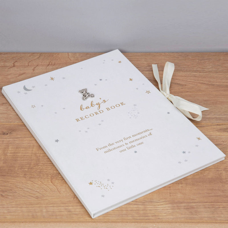 White Bambino Little Star Baby Record Book A4