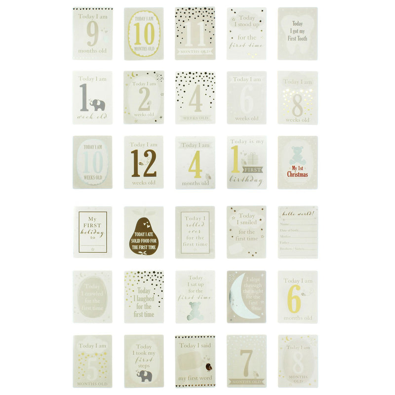 Bambino Little Star Baby Milestones Cards
