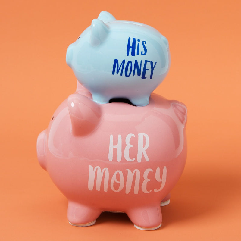 'Pennies & Dreams' Double Piggy Bank - His & Her