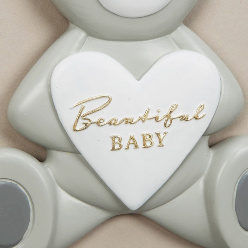 Bambino Resin Relief Teddy Bear Plaque - Beautiful Baby