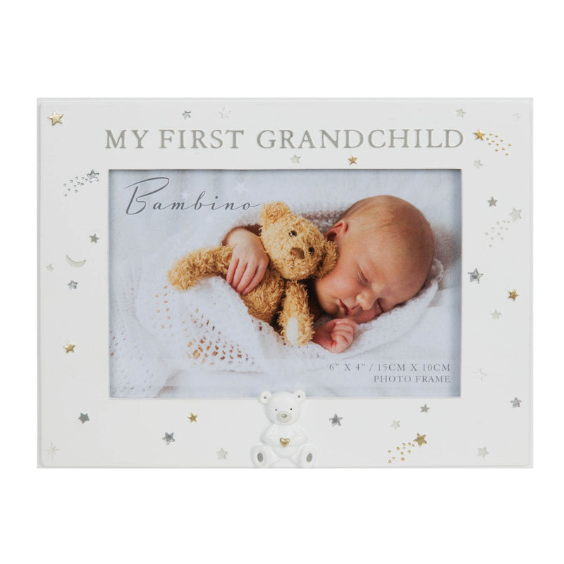 "6"" x 4"" - Bambino Resin First Grandchild Photo Frame"