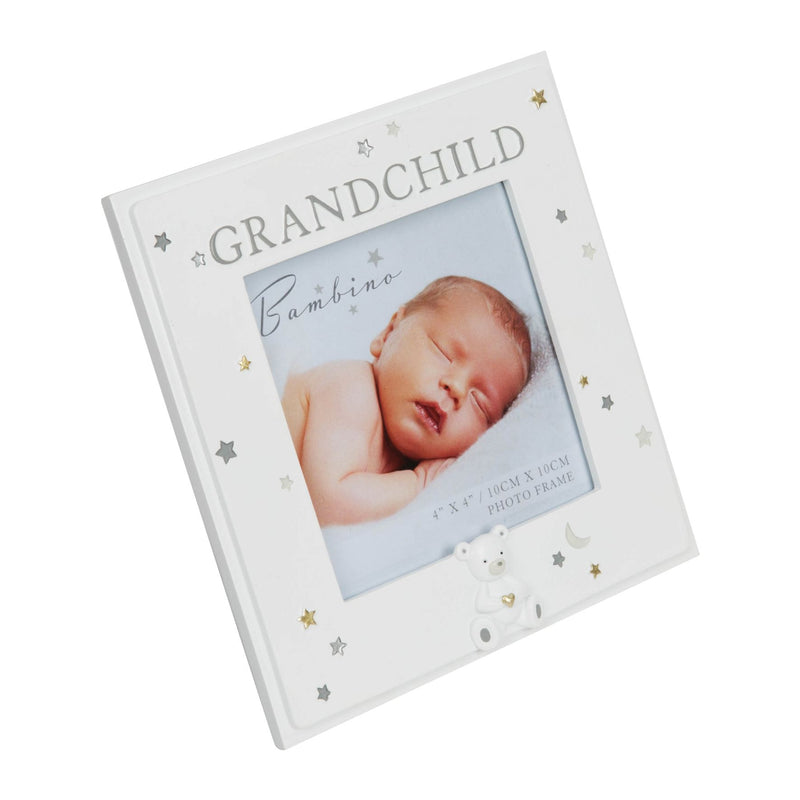 "4"" x 4"" - Bambino Resin Grandchild Photo Frame"