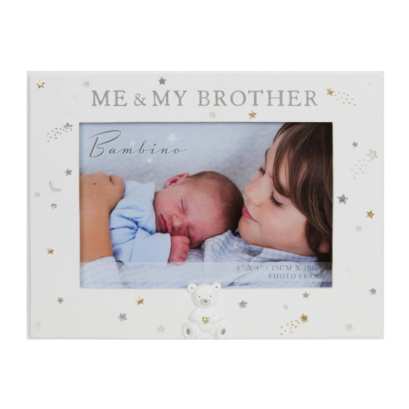 "6"" x 4"" - Bambino Resin Me & My Brother Photo Frame"