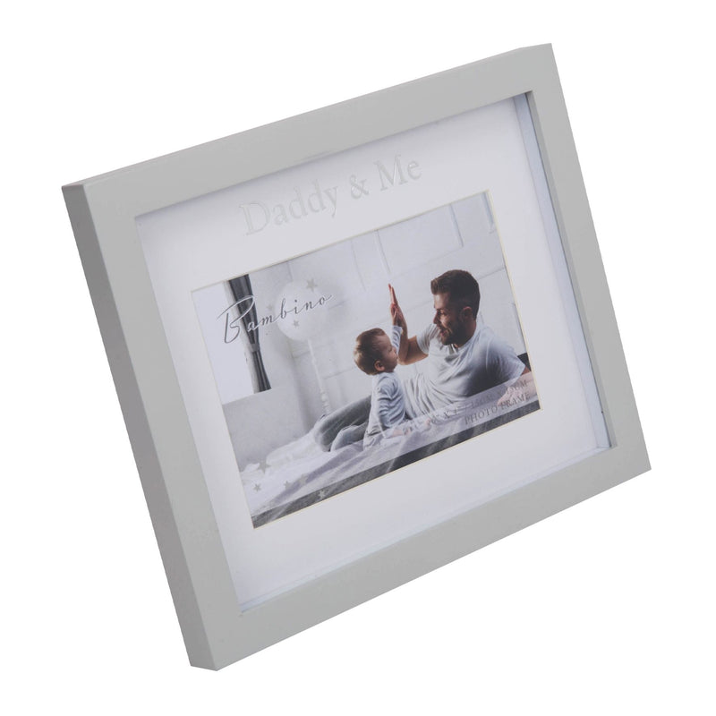 "6"" x 4"" - Bambino Daddy & Me Frame in Lidded Gift Box"