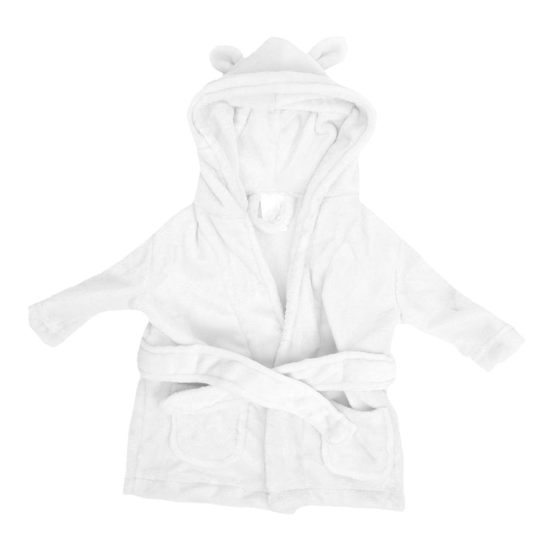 Bambino Baby's First Bathrobe - 3 to 6 Months - White