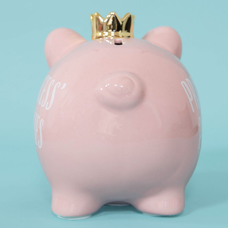 Pennies & Dreams Ceramic Piggy Bank - Princess' Pennies