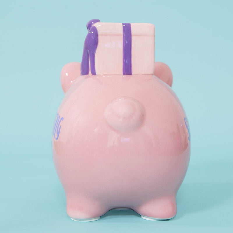 Pennies & Dreams Ceramic Piggy Bank - Shopping Fund