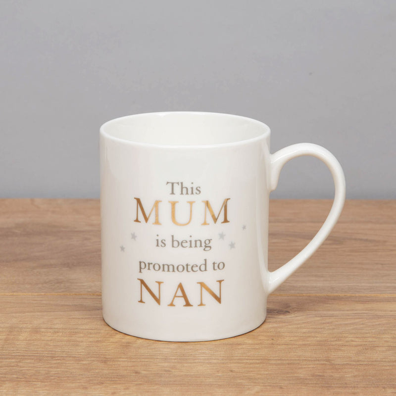 Bambino Bone China Mug - Mum Promoted to Nan