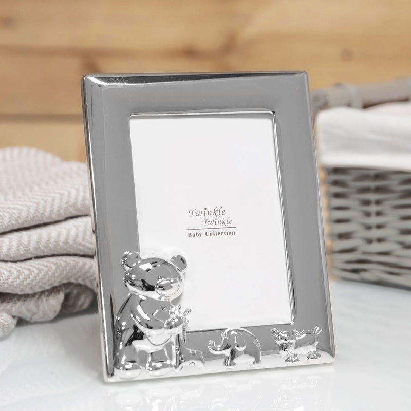 "3.5"" x 5"" - Twinkle Twinkle Silver-Plated Baby Photo Frame"