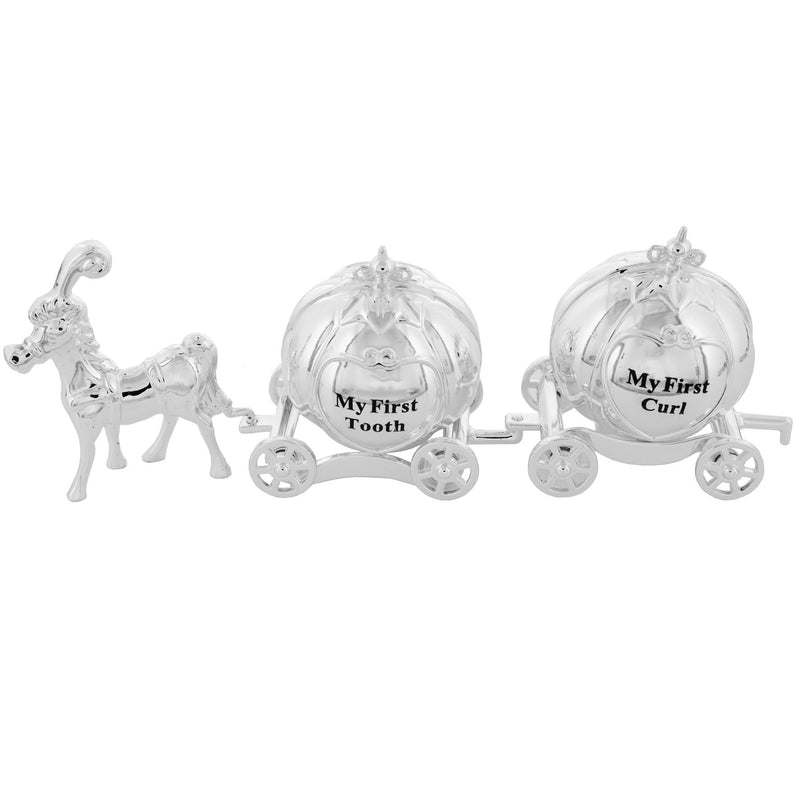 Silverplated Horse and Carriage Tooth & Curl Set