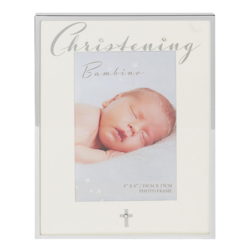 "4"" x 6"" - Bambino Silver Plated Photo Frame - Christening"