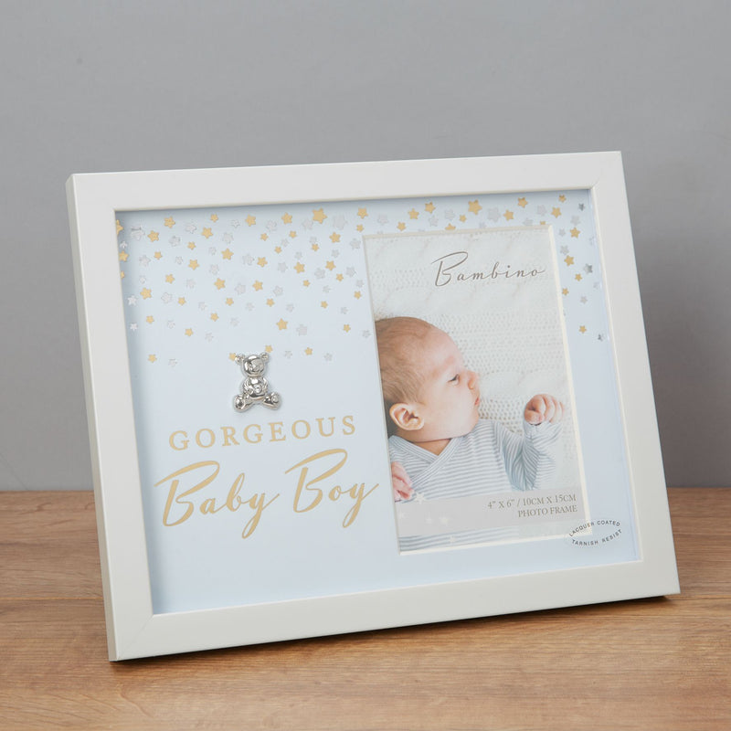 "4"" x 6"" - Bambino Photo Frame - Gorgeous Baby Boy"