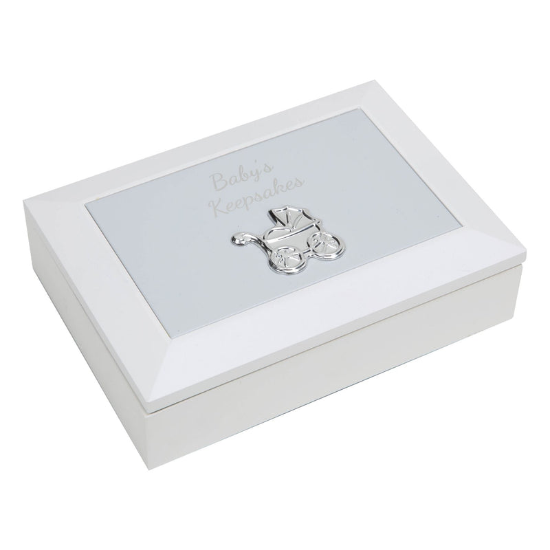 CELEBRATIONS® Baby's Keepsake Box with Embossed Metal Lid