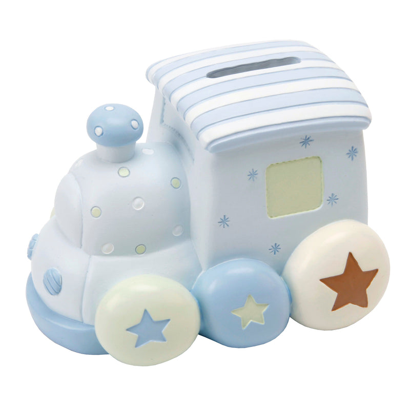 Petit Cheri Blue Train Money Box