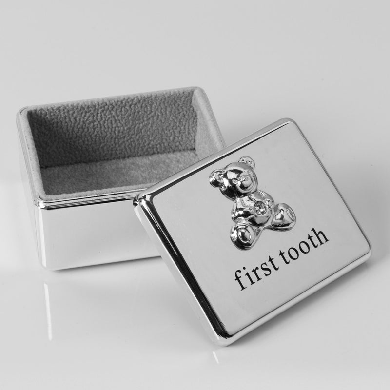 Bambino Silver Plated First Tooth Keepsake Box