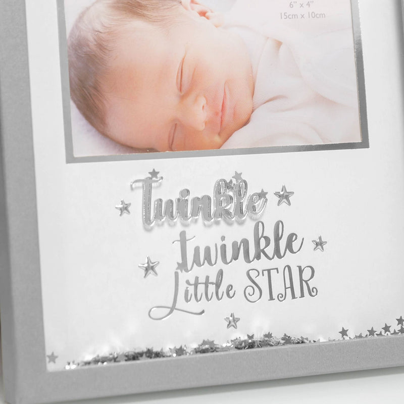 "6"" x 4"" - Twinkle Twinkle Shake Me Sequin Baby Photo Frame"