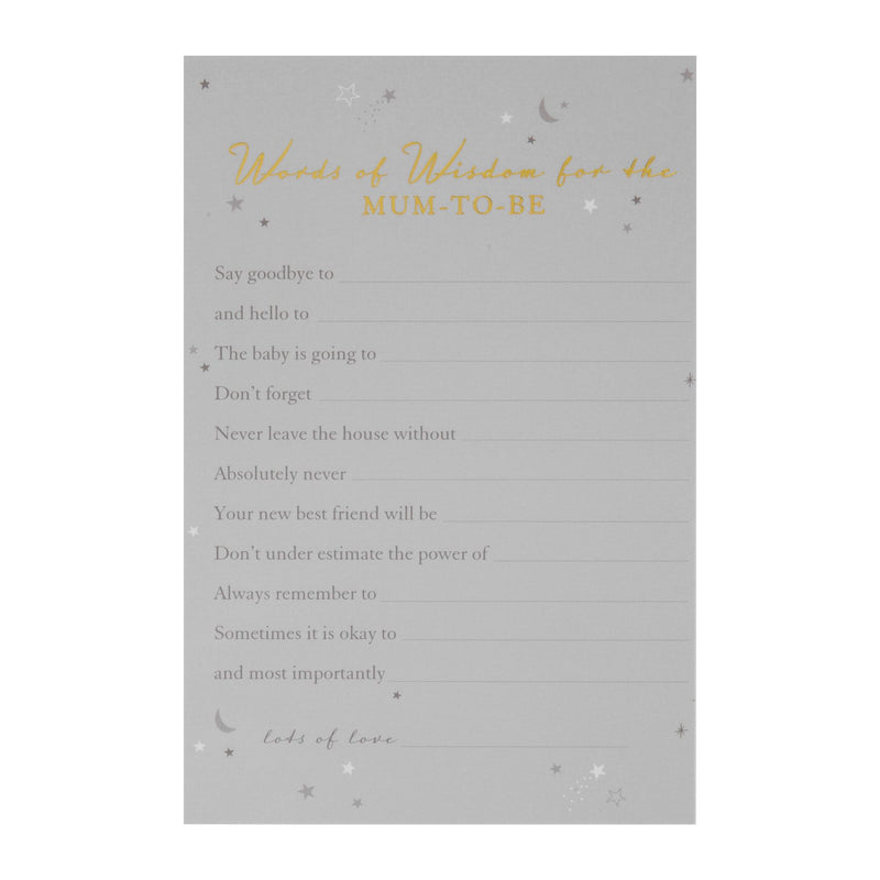 Bambino Baby Shower - Pack of 8 Words of Wisdom Cards