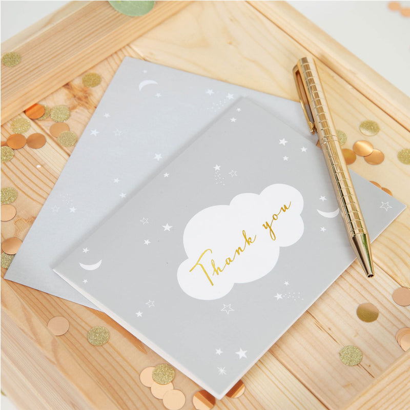 Bambino Baby Shower - Pack of 8 Thank You Cards