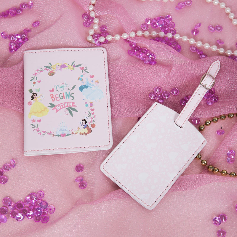 Disney True Princess Luggage Tag & Passport Set - Pink