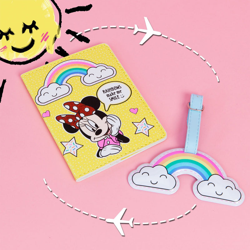 Disney Minnie Mouse Rainbow Luggage Tag & Passport Set