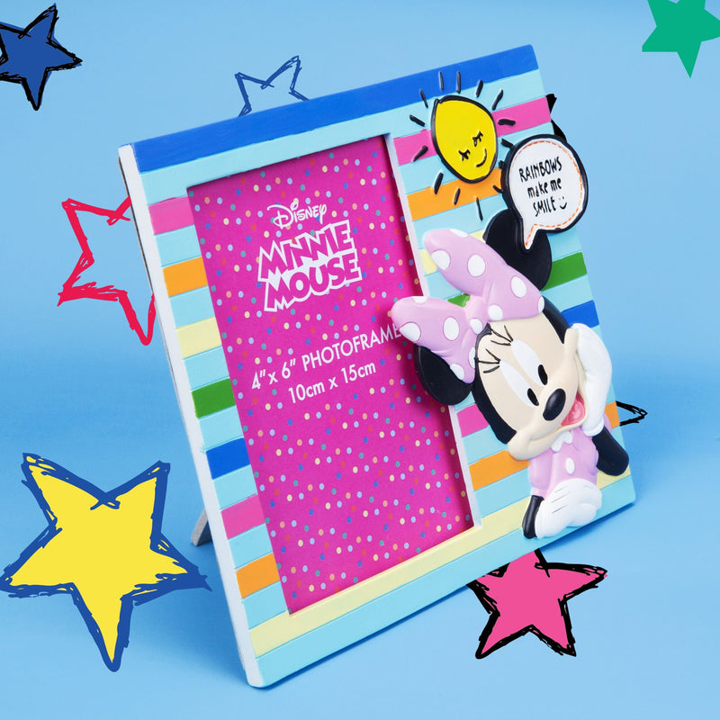 "4"" x 6"" - Disney Minnie Mouse 3D Resin Photo Frame"