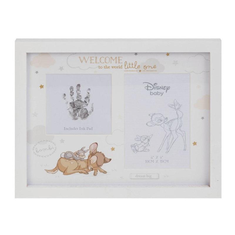 Disney Magical Beginnings Photo & Hand Print Frame - Bambi