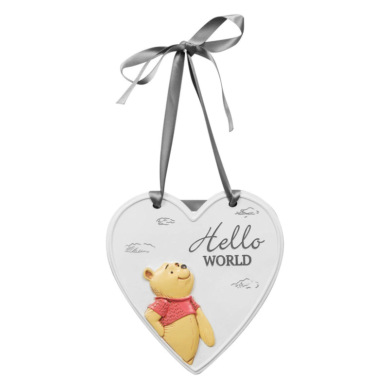 Disney Christopher Robin Relief Heart Hello World Plaque
