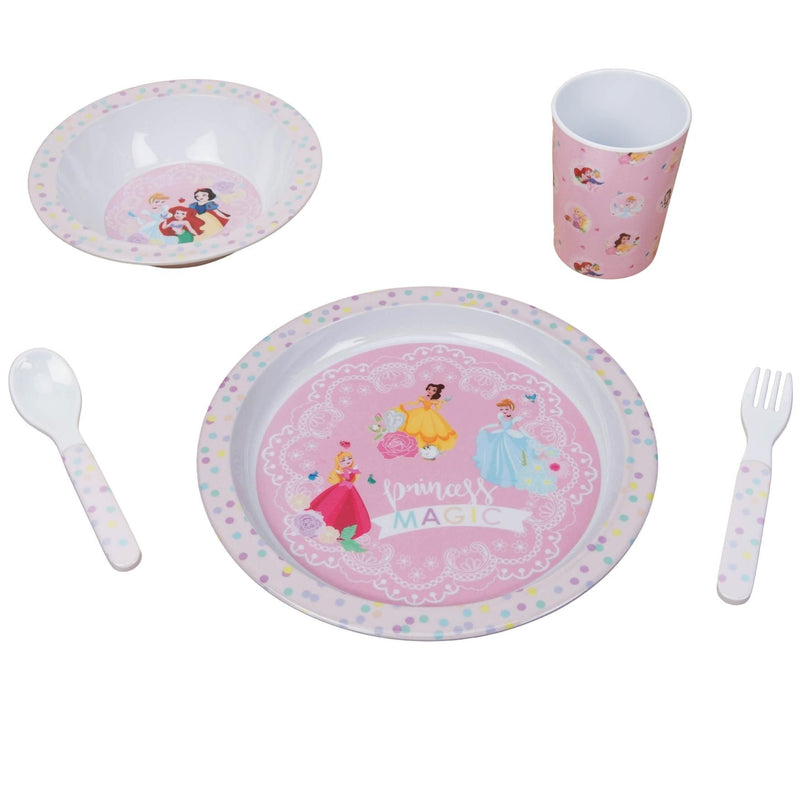 Disney True Princess 5 Piece Melamine Breakfast Set