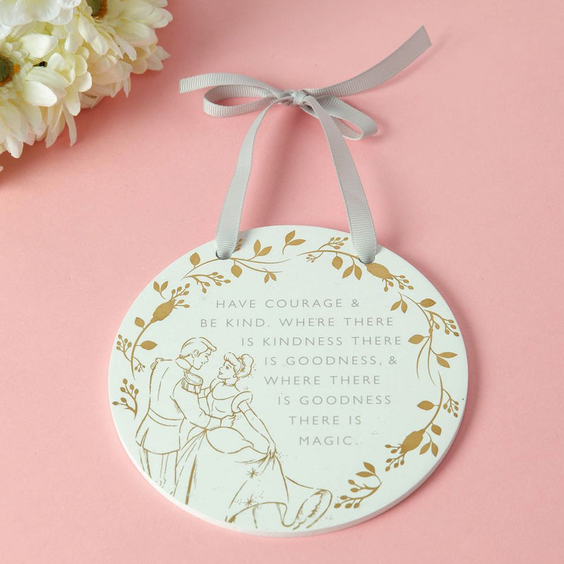 Happily Ever After Round Plaque - Cinderella