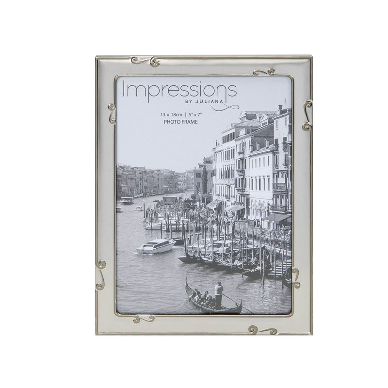 "5"" x 7"" - IMPRESSIONS® Aluminium Photo Frame Pewter Finish"