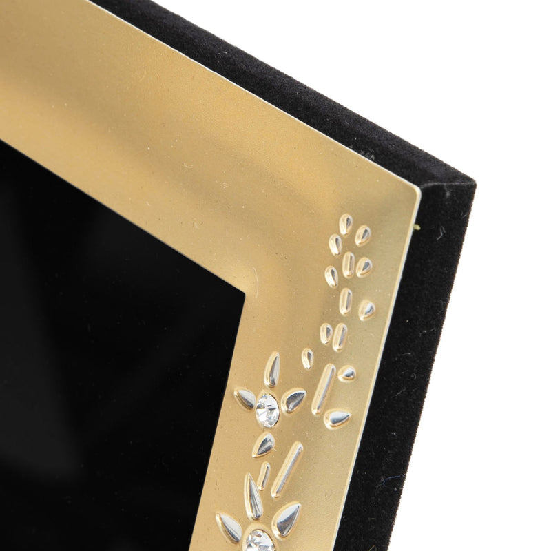 "4"" x 6"" - IMPRESSIONS® Gold Photo Frame with Crystal Flowers"