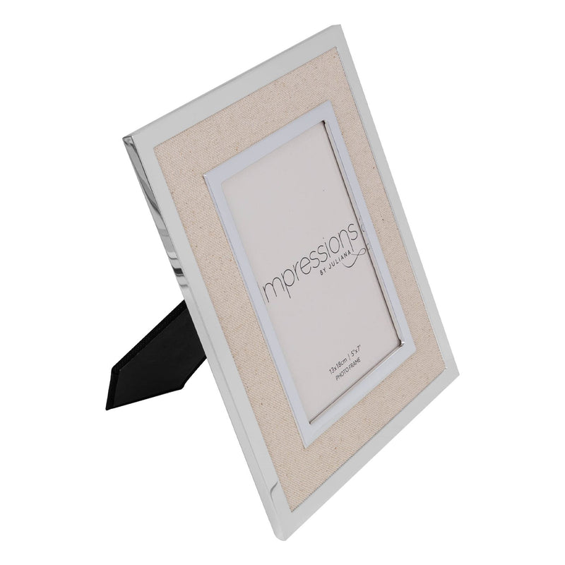 "5"" x 7"" IMPRESSIONS® Silver Finish Frame with Canvas Border"